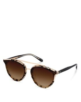 Krewe - Women's Clio 24K Gradient Aviator Sunglasses, 63mm