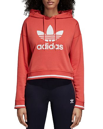 adidas Originals - Active Icons Cropped Hooded Sweatshirt