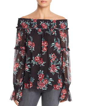 Alison Andrews - Off-the-Shoulder Floral Top