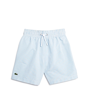 Lacoste Boys Seersucker Swim Trunks  Little Kid Big Kid