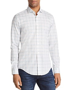 BOSS Ridley Grid Slim Fit Button-Down Shirt - Bloomingdale's_0