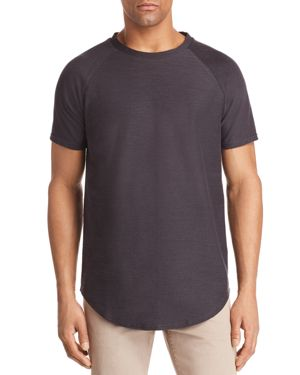VITALY Scalloped Crewneck Tee in Charcoal