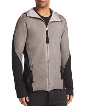 thom/krom - Long Hooded Paneled Jacket
