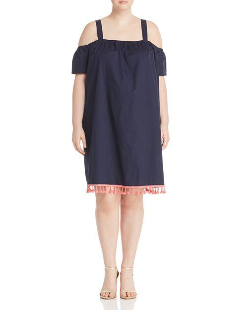 JUNAROSE Plus - Olazi Cold-Shoulder Tassel Dress