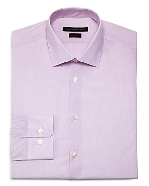 New John Varvatos Star Usa Fine Stripe Regular Fit Dress Shirt, Purple