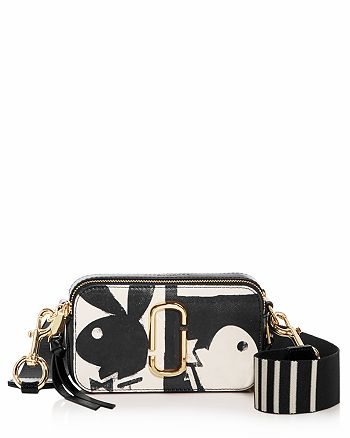 983d0fd1f1b MARC JACOBS Snapshot Playboy Print Embossed Leather Mini Crossbody ...