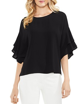 0a28c2df407cc8 VINCE CAMUTO - Tiered Ruffle-Sleeve Top ...