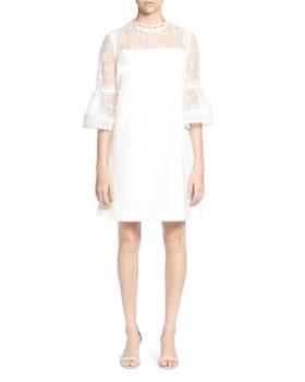 CATHERINE Catherine Malandrino - Amelia Floral Lace Bell-Sleeve Dress