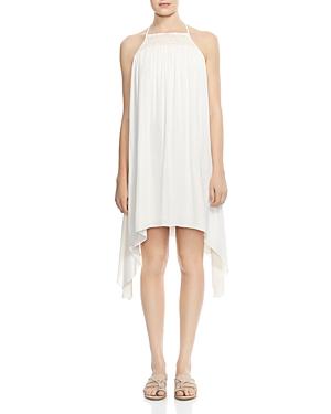 Halston Heritage Smocked Asymmetric Dress