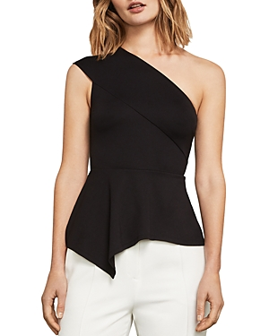 Bcbgmaxazria Gena One-Shoulder Peplum Top