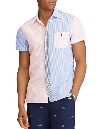 a30962dea Polo Ralph Lauren Seersucker Panel Button-Down Shirt | Bloomingdale's