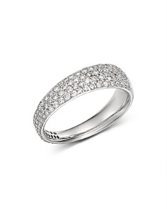 Roberto Coin - 18K White Gold Scalare Diamond Ring