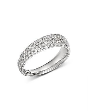 Roberto Coin 18K White Gold Scalare Diamond Ring