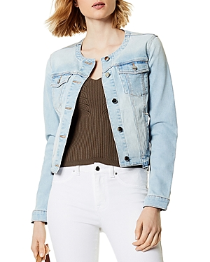 Karen Millen Collarless Denim Jacket