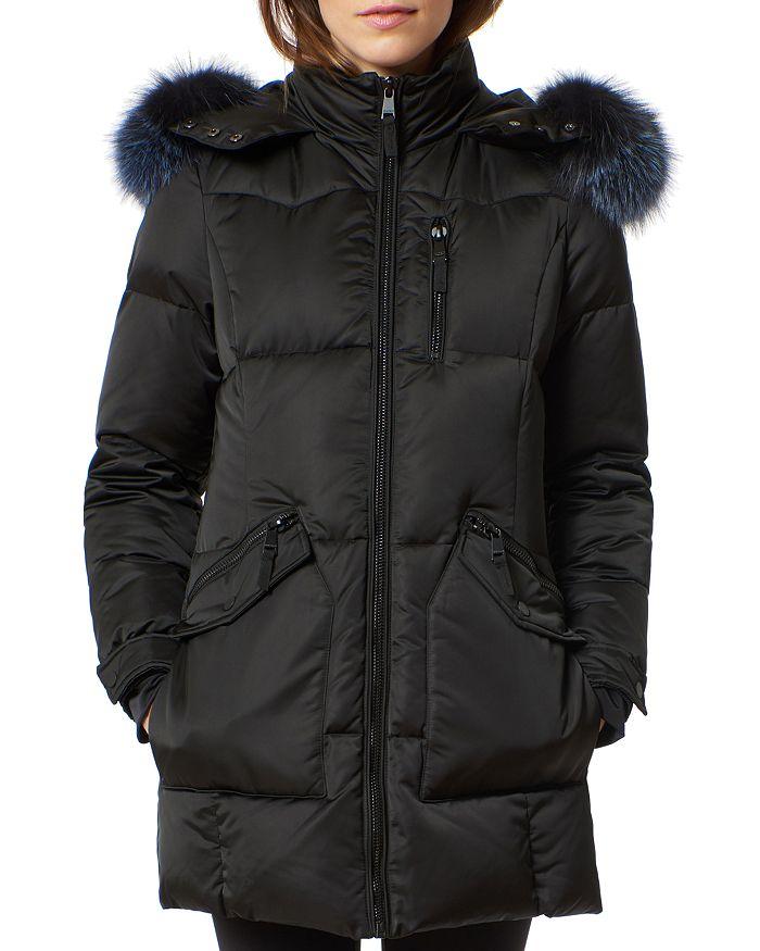 One Madison - Fur Trim Puffer Coat