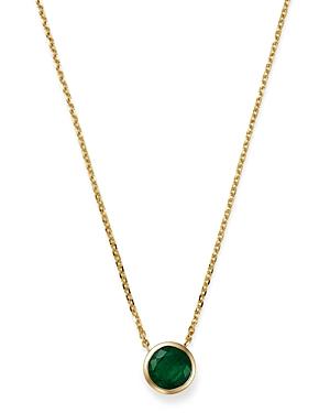 Bloomingdale\\\'s Emerald Bezel Pendant Necklace in 14K Yellow Gold, 16 - 100% Exclusive-Jewelry & Accessories