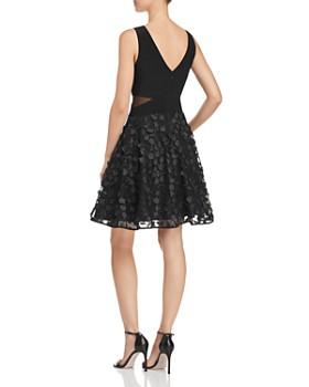 AQUA - Floral-Appliqué Fit-and-Flare Dress - 100% Exclusive