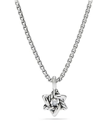 David Yurman - Cable Collectibles Kids Star of David Necklace with Diamonds