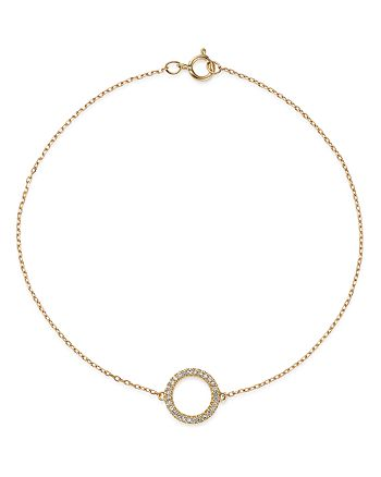 Bloomingdale's - Diamond Circle Bracelet in 14K Yellow Gold, 0.08 ct. t.w. - 100% Exclusive