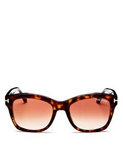 d64d1f2ac2952 Tom Ford Women s Lauren Polarized Square Sunglasses
