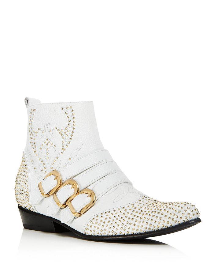 Anine Bing - Women's Penny Studded Leather Ankle Boots