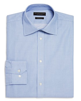 The Men's Store at Bloomingdale's - Textured Micro Check Regular Fit Dress Shirt - 100% Exclusive