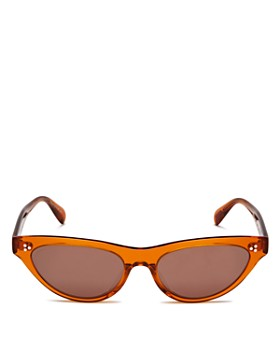 Oliver Peoples - Women's Zasia Mirrored Cat Eye Sunglasses, 53mm
