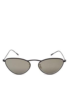 Oliver Peoples - Women's Lelaina Mirrored Cat Eye Sunglasses, 56mm