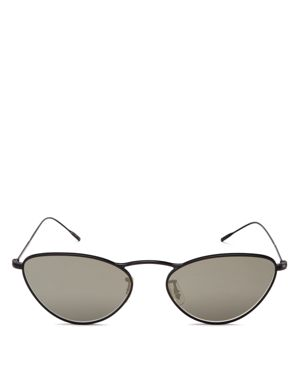 OLIVER PEOPLES WOMEN'S LELAINA MIRRORED CAT EYE SUNGLASSES, 56MM