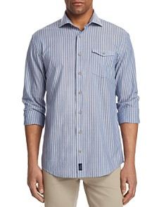 Johnnie-O - Troxler Striped Regular Fit Button-Down Shirt