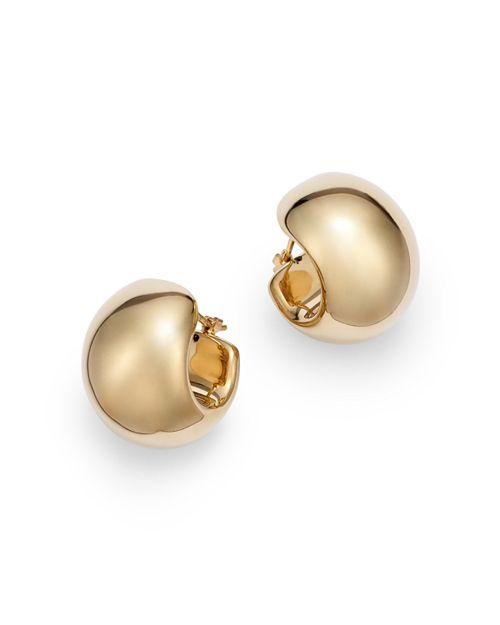 Bloomingdale's - Wide Huggie Hoop Earrings in 14K Yellow Gold - 100% Exclusive