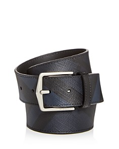 Burberry Joe London Check Embossed Leather Belt - Bloomingdale's_0