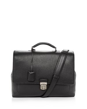 SALVATORE FERRAGAMO Firenze Leather Briefcase - Black