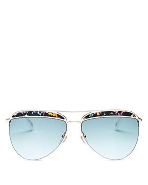 Marc Jacobs Women's Brow Bar Aviator Sunglasses, 61mm