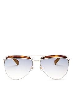 MARC JACOBS - Women's Brow Bar Aviator Sunglasses, 61mm