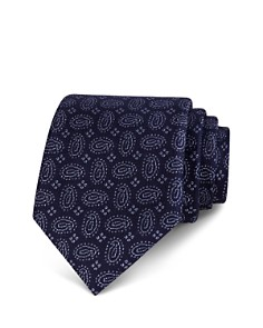The Men's Store at Bloomingdale's Textured Tossed Pines Classic Tie - 100% Exclusive_0