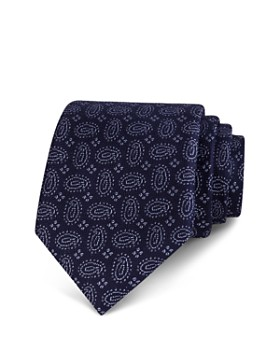 The Men's Store at Bloomingdale's - Textured Tossed Pines Classic Tie - 100% Exclusive