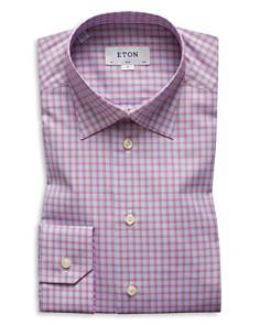 Eton - Plaid Slim Fit Dress Shirt