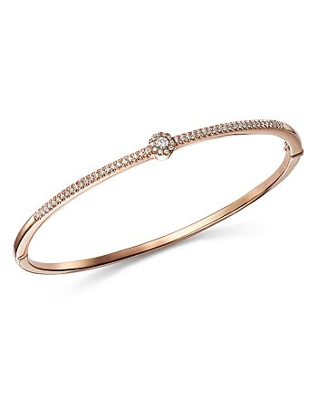 Bloomingdale's - Diamond Flower Station Bangle in 14K Rose Gold, 0.33 ct. t.w. - 100% Exclusive