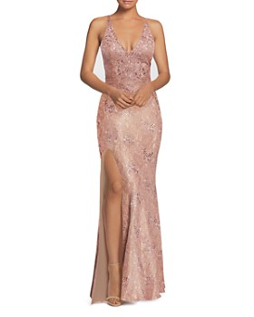 Dress the Population - Lace Mermaid Gown