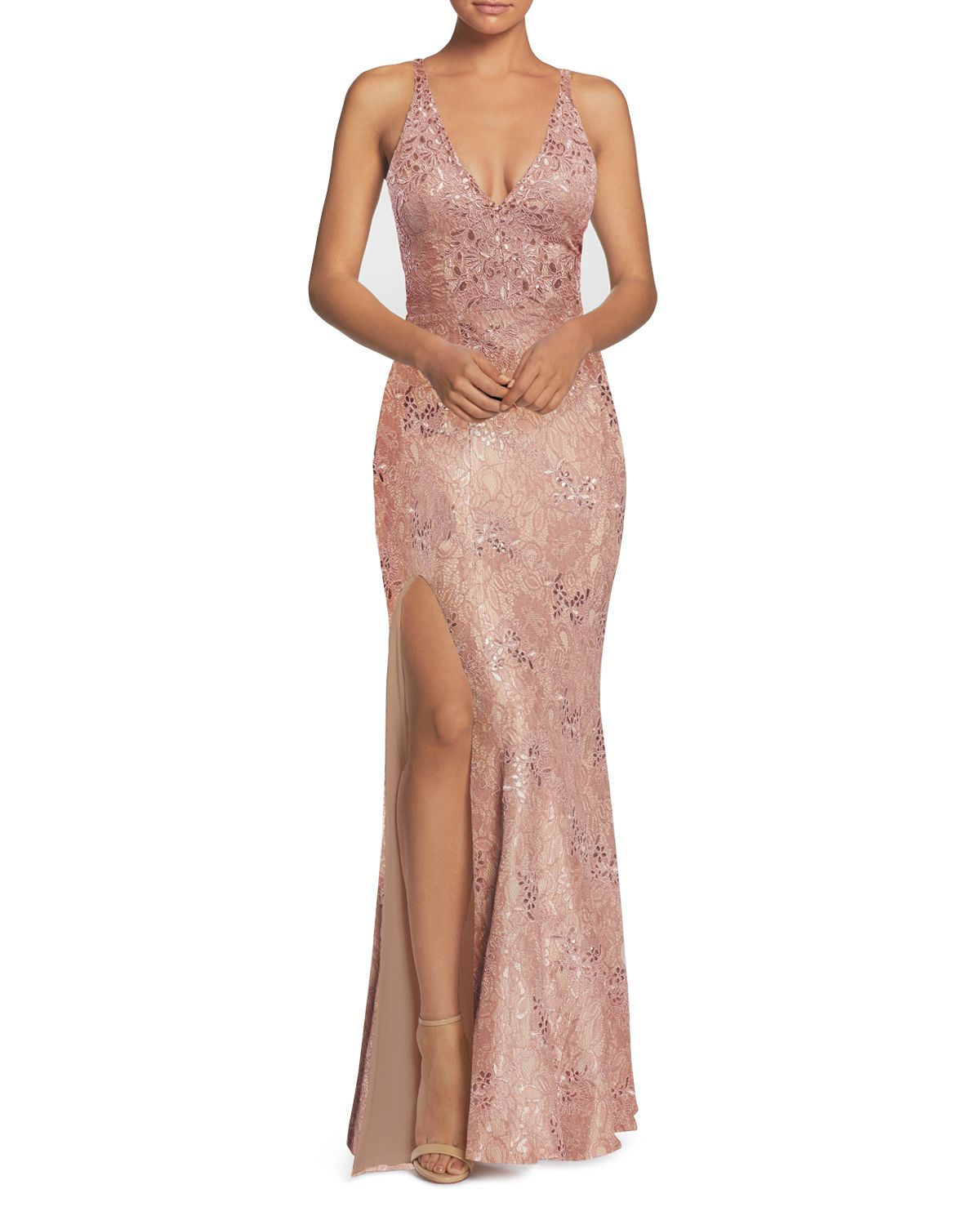 Lace Mermaid Gown by Dress The Population