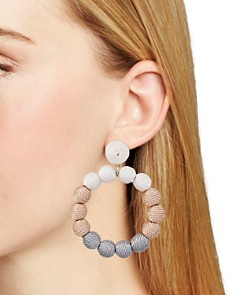AQUA - Ball Front Hoop Earrings - 100% Exclusive