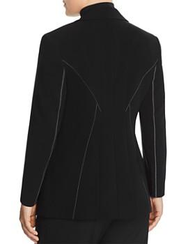 Marina Rinaldi - Carato Single-Button Contrast Stitched Blazer