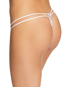 For Love & Lemons - Ditzy Daisy Embroidered Strappy Thong