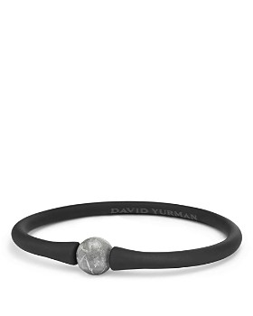 David Yurman - Spiritual Beads Stone Rubber Bracelet with Meteorite