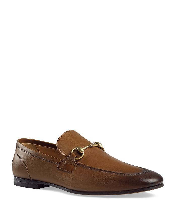 Gucci - Men's Leather Apron-Toe Loafers
