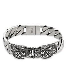 Gucci Sterling Silver Tiger Head Bracelet Bloomingdale S 0