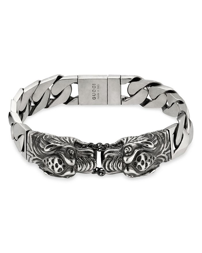 ac3ddf6664a285 Gucci Sterling Silver Tiger Head Bracelet | Bloomingdale's