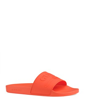 Gucci - Men's Embossed Logo Slide Sandals