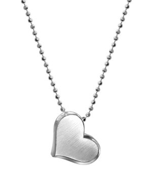ALEX WOO Sterling Silver Prince Heart Bloom Necklace, 16